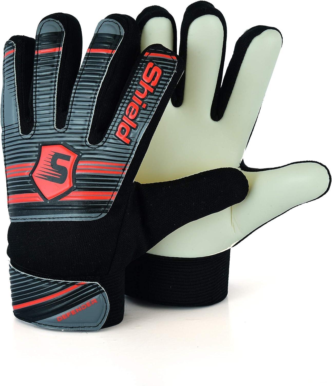 Shield Soccer Goalkeeper Goal Keeping Goalie Gloves Kids Junior Econotech