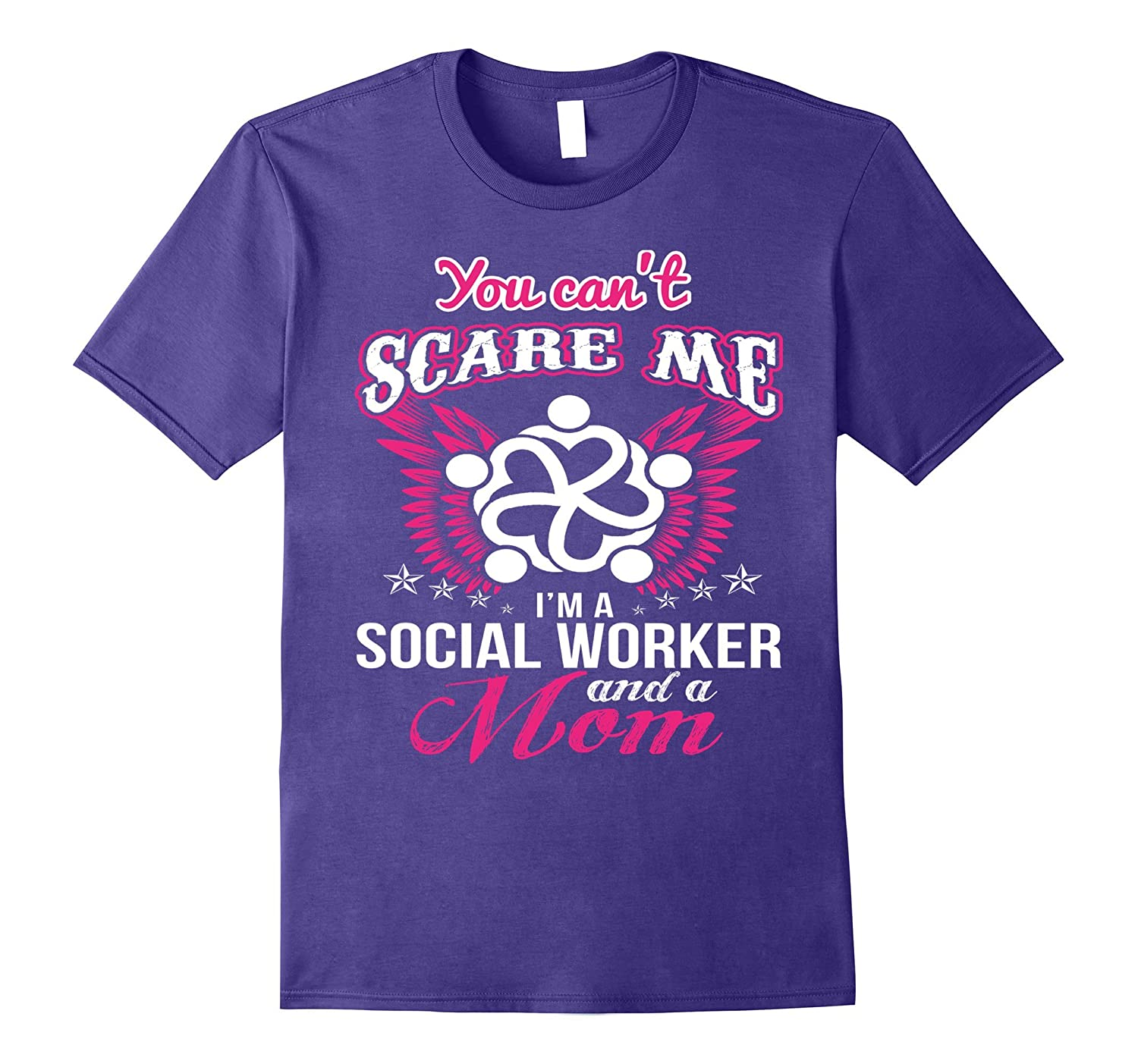 BeeTee You Cant Scare A Social Worker Mom T-Shirt-Vaci