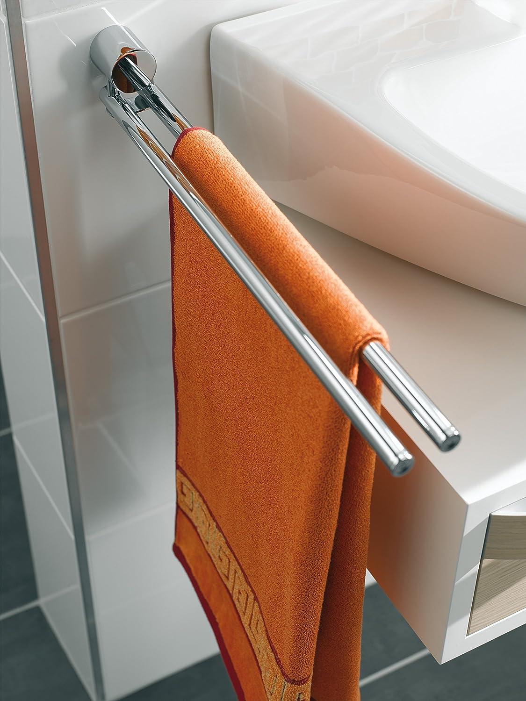 Emco Rondo 2 Handtuchhalter chrom Handtuchstange 2 armig drehbar zur Wandmontage Länge 364 mm