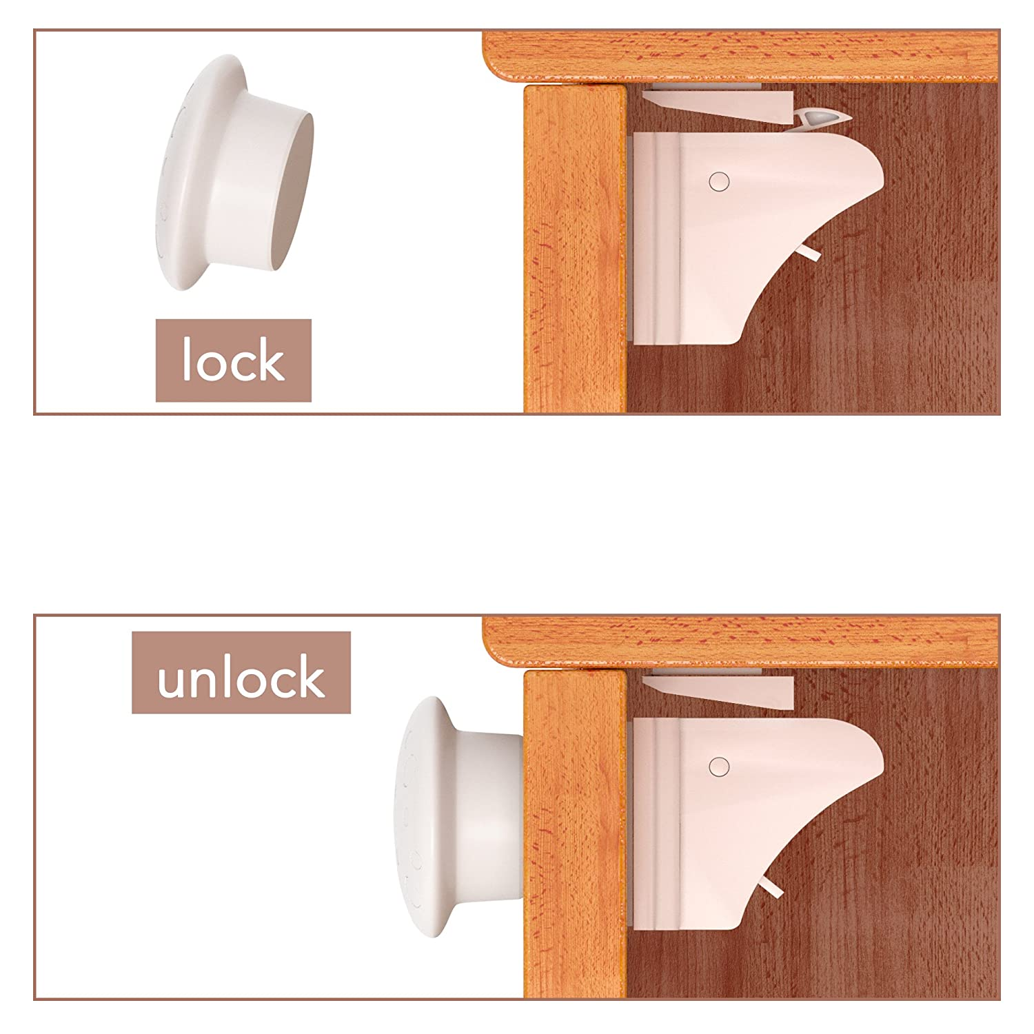 Amazon Com Baby Safety Magnetic Cabinet Locks Outlet Covers No Drilling Key Baby