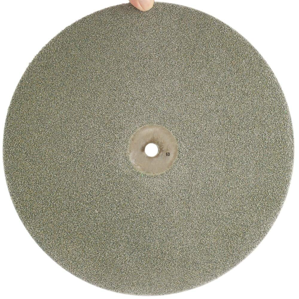 Maslin 18'' inch 450mm Grit 60-240 Diamond Grinding Disc Abrasive Wheels Coated Flat Lap Disk Jewelry Tools for Stone Glass Gemstone - (Grit: 240 Medium)