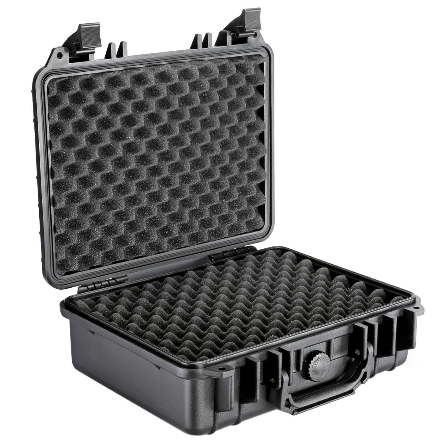 Neewer 13x10x6/33x25x15cm Waterproof Carrying Case with Cubed Foam for Cameras, Flashes, LED Lights, Lenses and Other Accessories (Black) by Neewer