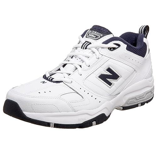 New Balance 608v2 - Zapatillas de soft tennis de cuero para hombre blanco V2W 41: Amazon.es: Zapatos y complementos