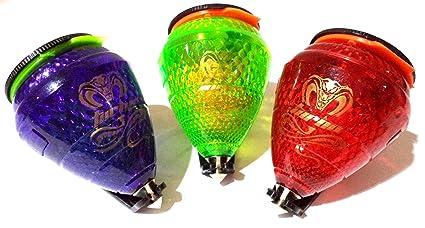 Trompo COBRA Turbo. Con Rodamiento y luz LED. Lote de 3 Trompos (uno