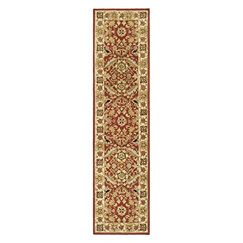 Safavieh Chelsea Collection HK157A Hand-Hooked Red and Ivory Premium Wool Area Rug 6 x 9