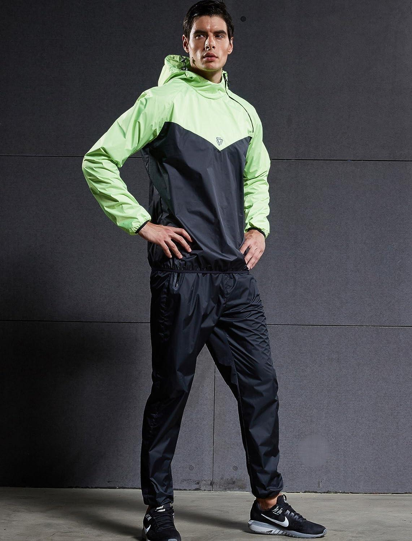 Cody Lundin V/êtements de Sudation Hommes Sudation Surv/êtement Minceur Combinaison de Sudation Sauna Suit