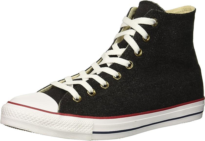 dc38fe0f93ac Converse Chuck Taylor All Star Denim HIGH TOP Sneaker Black White Brown 4 M
