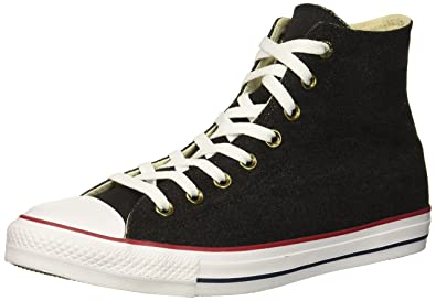 Converse Chuck Taylor All Star Denim HIGH TOP Sneaker Black White Brown 4 M 80aa0fdf2