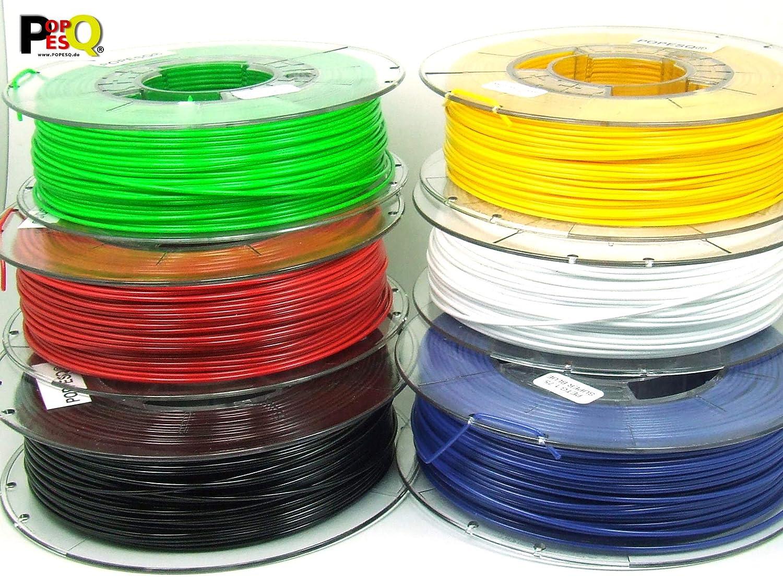 POPESQ® 2 Kg x Filamento 3D Impresora Pet-G 1.75mm 6 Colores Cada ...