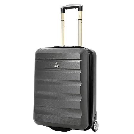 Aerolite Ryanair Maximum Allowance Hard Shell Lightweight Hand Cabin Luggage  Travel Suitcase 55x40x20 With 2 Wheels