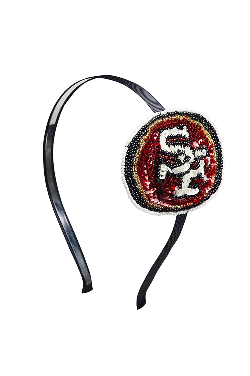 """NFL Atlanta Falcons """"The Grace Collection"""" Sequins and Beads Horseshoe Hairband"""