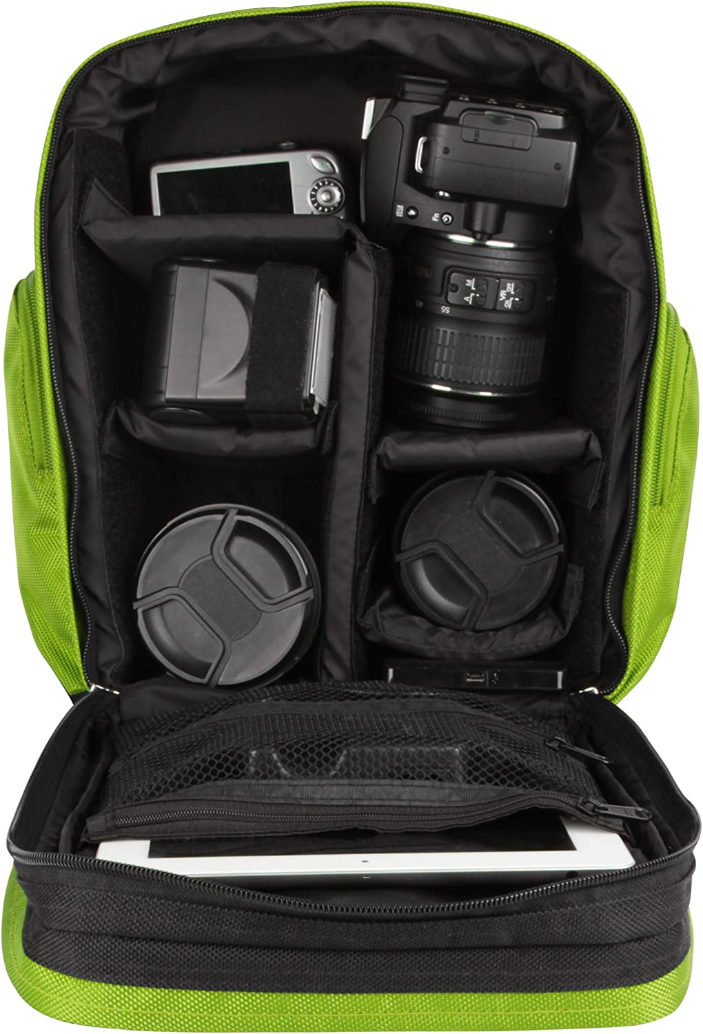 D810 D600 D800E D750 D300S D610 Black and Green D810A VanGoddy Sparta Travel Backpack for Nikon D7200 Df D7000 D700 Digital SLR Cameras and Mini Tripod and Screen Protector D800 D7100