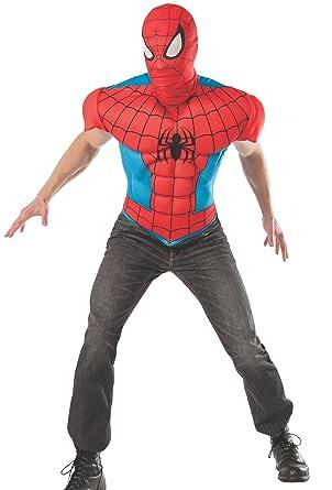 Kit disfraz de Spiderman deluxe para hombre: Amazon.es: Ropa y ...