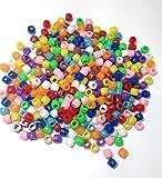 CI Lot de 1000 perles tonneau Coloris assortis