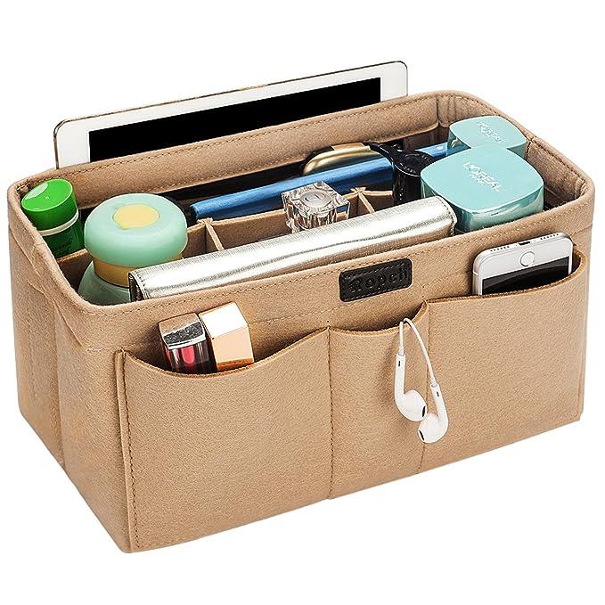 6fe35463056e felt purse bag in bag organizer insert multi pocket handbag shaper ...