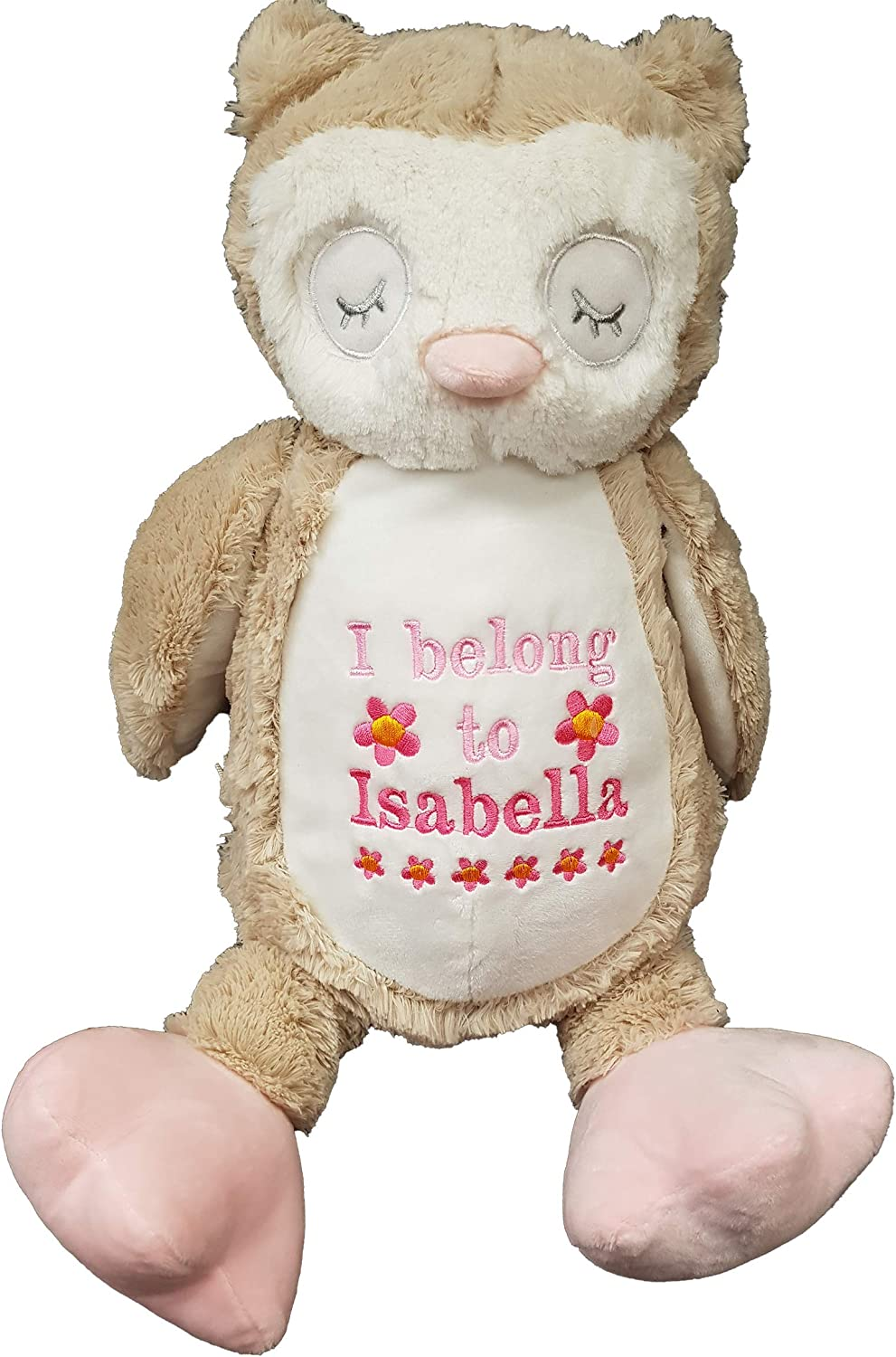 Pink Bear Personalised Embroidered Mumbles Teddy soft Toy Birth Christening