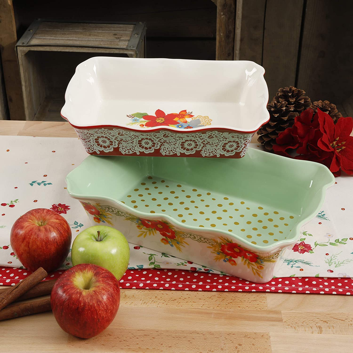 The Pioneer Woman 2 piece Ceramic Bakeware in Garland Gibson