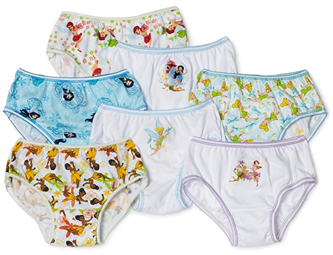 Disney Little Girls diseño de Campanilla 7-Pack ropa interior