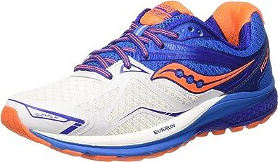 Saucony Hombre Ride 9 Zapatillas de Running de competición Blanco ...