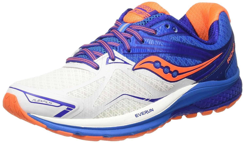 Blå (vit  blå  orange) Saucony herrar herrar herrar Ride 9 springaning skor  preferentiell