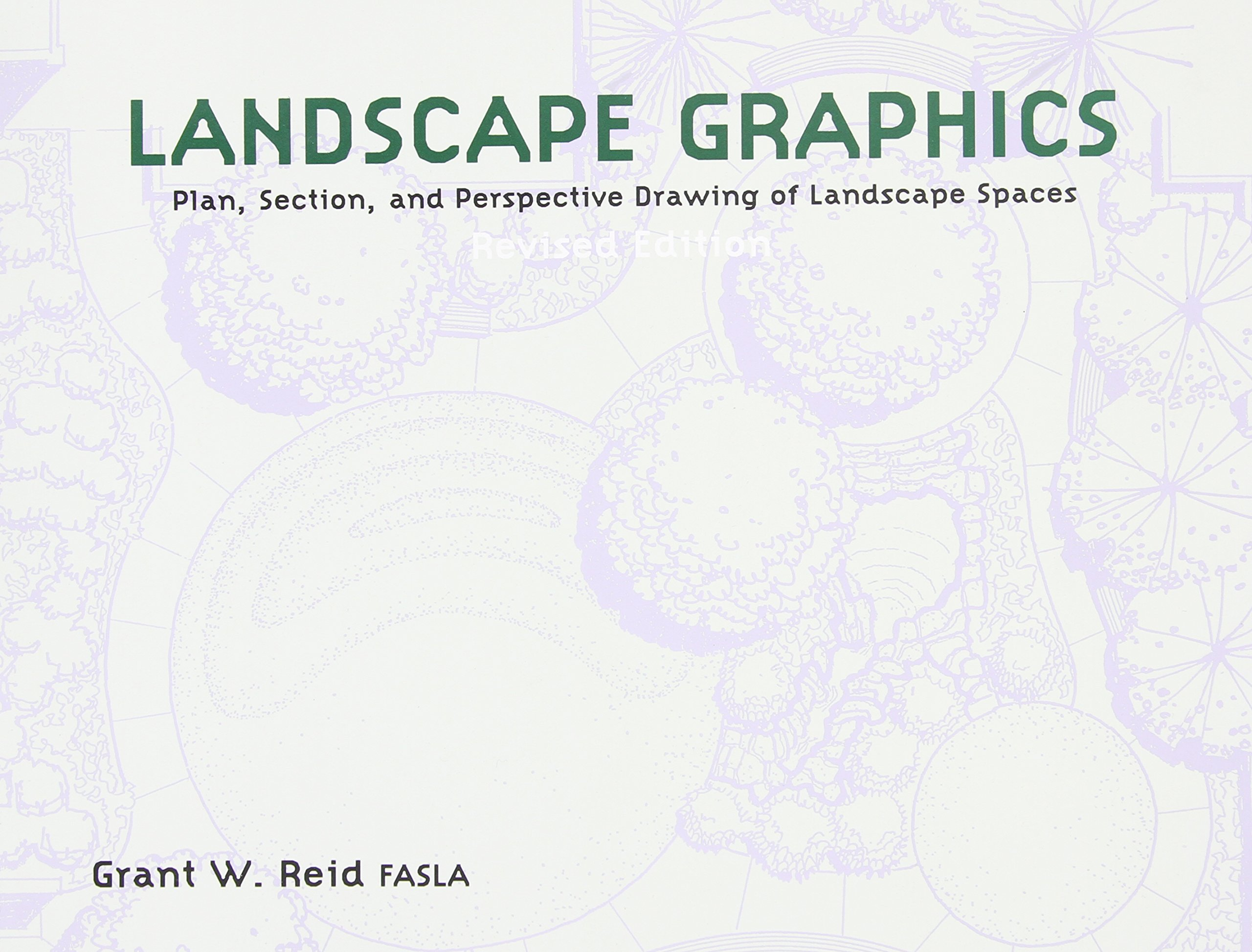 Landscape Graphics Plan Section and Perspective Drawing of