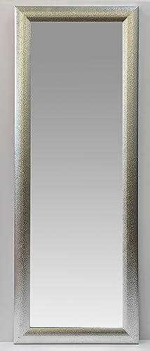 Specchio a figura intera con cornice in legno effetto glitter ...