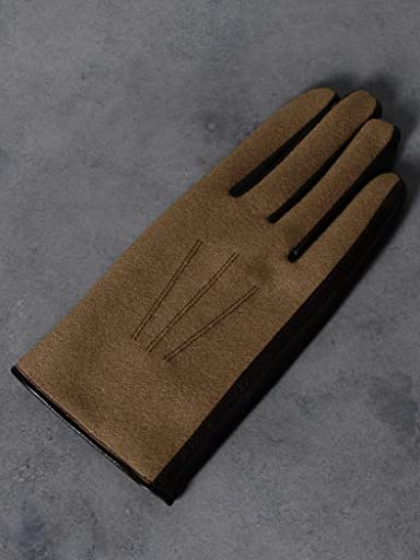 Flannel Sheep Leather Gloves 1337-699-1032: Beige