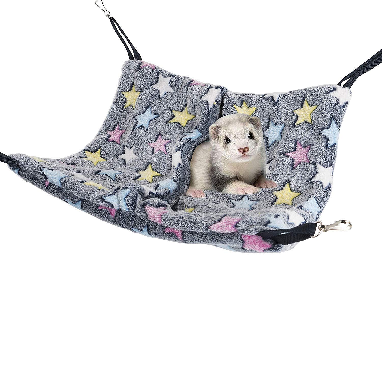 Niteangel Cage Hanging Nap Sack Swing Napping Hammock for Ferret Rat Chinchilla Sugar Glider by Niteangel