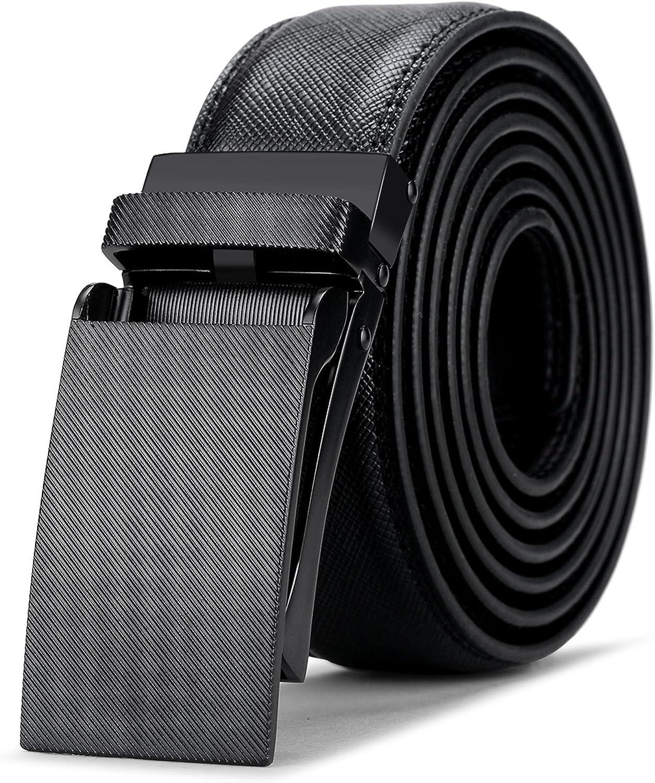 Mens Belt,Bulliant Slide Ratchet Belts for Men with Genuine Leather ,Trim to fit/
