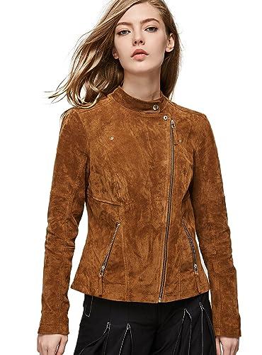 5 estilos de chaquetas de primavera en cuero para mujer  407a7ceb7e24