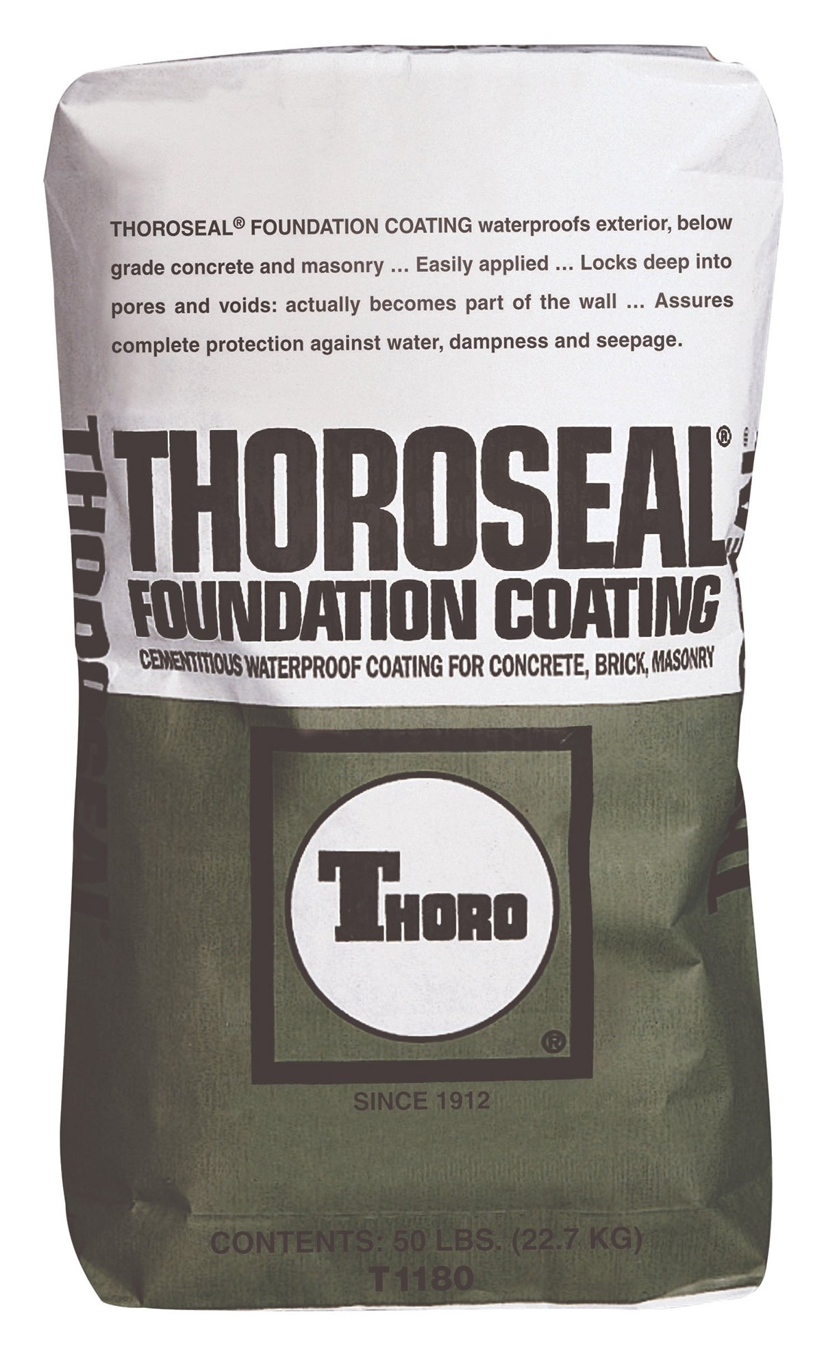 Thoro T1180 GRY Seal Foundation Coating, 50 lb