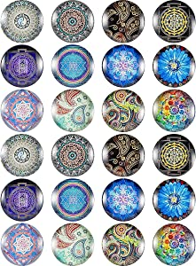 Madholly 24 Pieces Sri Lanka Pretty Glass Refrigerator Magnets- Beautiful Fridge Magnets for Refrigerator Office Cabinet Whiteboard Photo, Great Magnet Set for Decor and Necessary Use