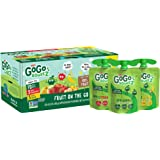 GoGo squeeZ Applesauce, Variety Pack (Apple/Banana/Strawberry), 3.2 Ounce (20 Pouches), Gluten Free, Vegan Friendly, Unsweetened, Recloseable BPA Free Pouches