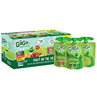 GoGo squeeZ Applesauce, Variety Pack (Apple/Banana/Strawberry), 3.2 Ounce (20 Pouches...