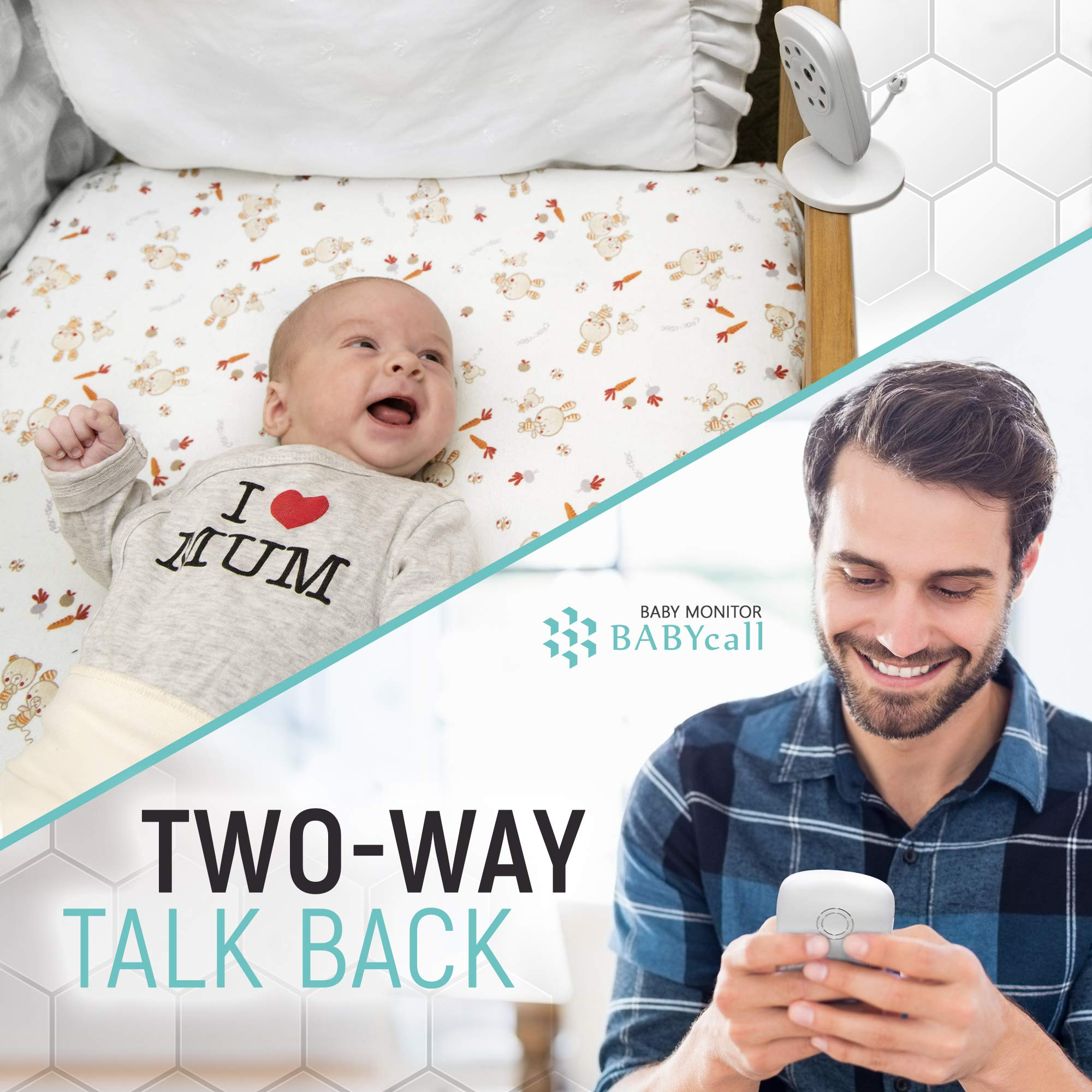 Video Baby Monitor with Camera - Upgrade 2019 Model of Monitoring System with Night Vision, Two Way Audio, Temperature detectors - Long Range Wireless Monitoring by BABYcall by BABYcall (Image #4)