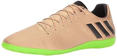 137916f65e26 adidas Men's Messi 16.3 Indoor Soccer Shoe, Copper Metallic/Black/Solar  Green,