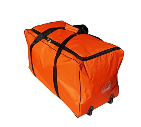 Bolsa de Viaje Deportes Maleta Trolley Grande 140L con Ruedas. Talla XXL (Naranja)
