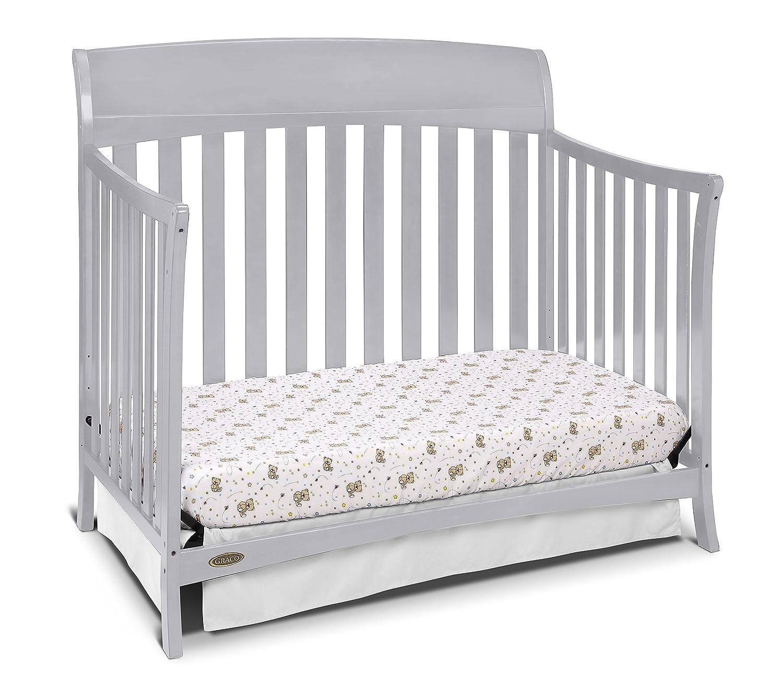 amazon com graco lennon 4 in 1 convertible crib pebble gray baby
