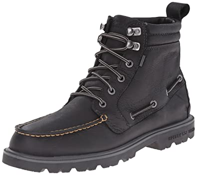 Sperry Top-Sider Men's Authentic Original Lug Boot WP Winter Boot, Black, 8