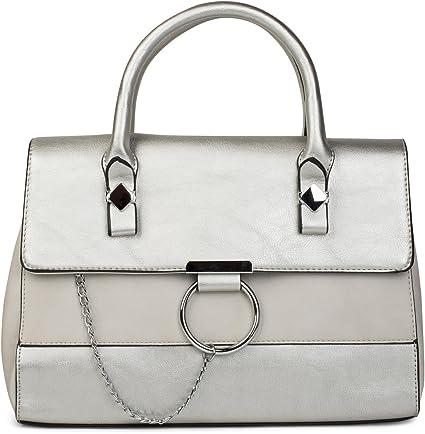 fa8b66f0b1 styleBREAKER sac à bandoulière cartable, modèle double teinte avec anneau  en métal et chaîne,