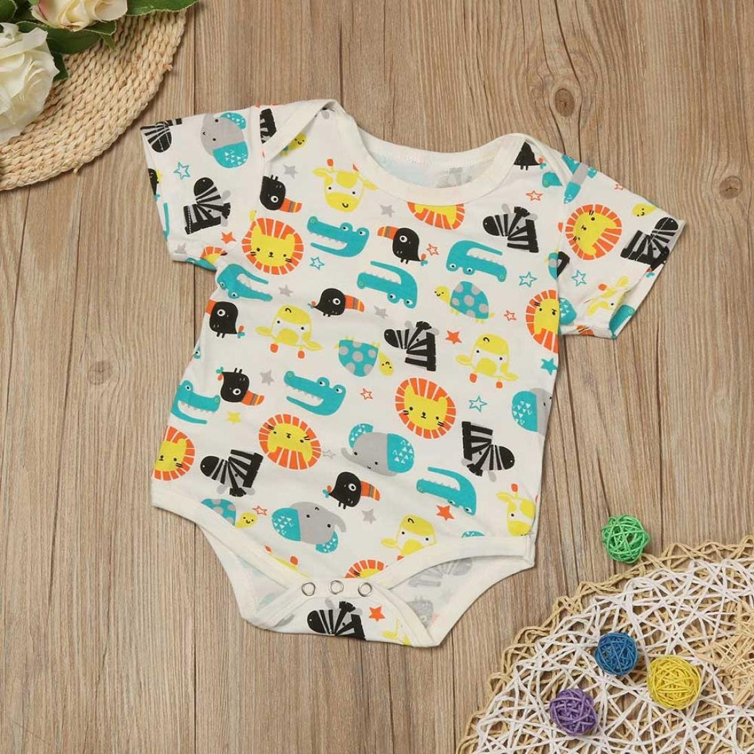 For 0-24 Months Baby,DIGOOD Infant Toddler Baby Girl Boy Zoo Cotton Leopard Romper Jumpsuit Kids Clothes