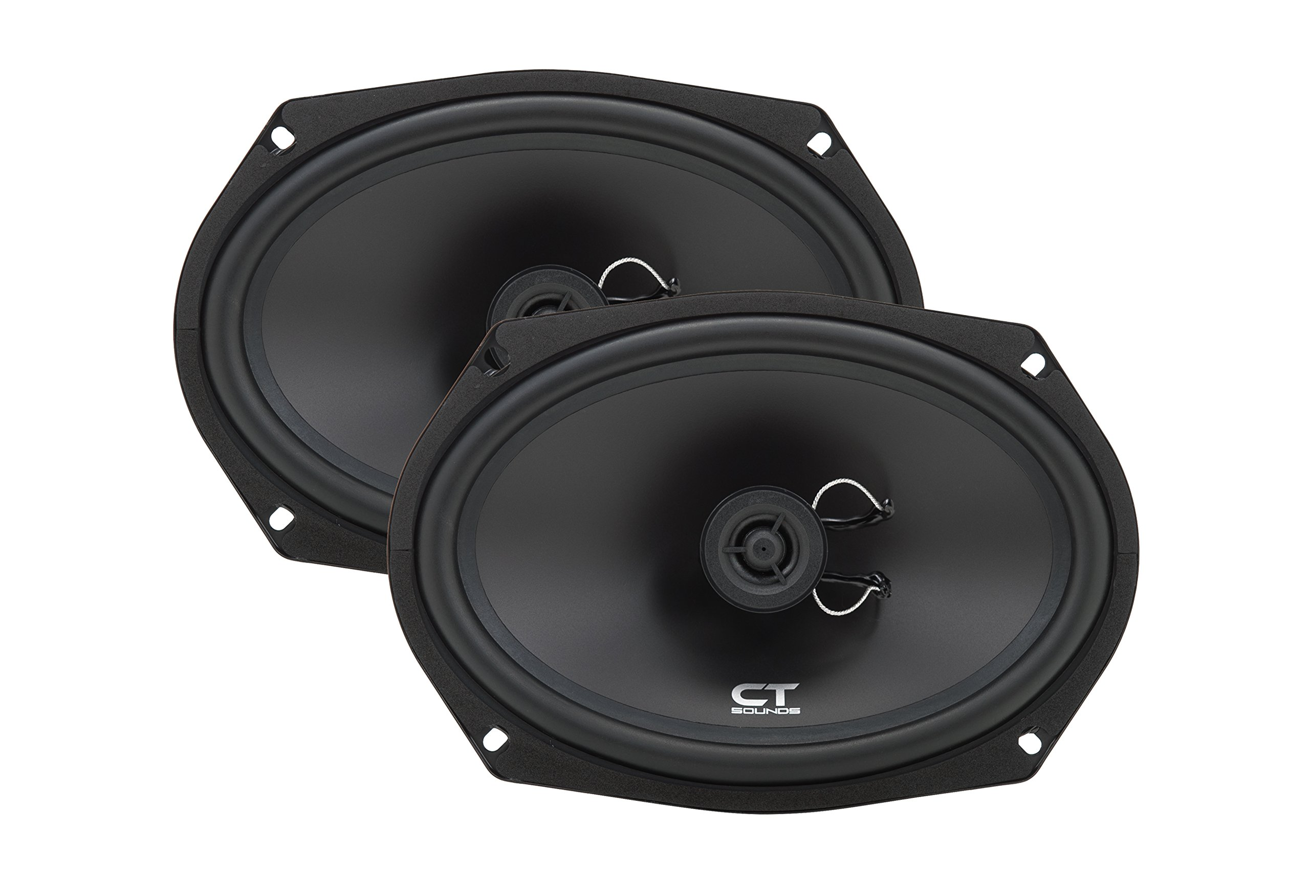CT Sounds Bio 6x9 Inch 2 Way Silk Dome Coaxial Car Speakers (Pair)