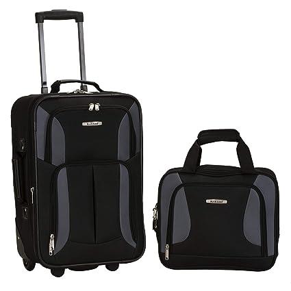 Amazon.com: Rockland, juego de equipaje de dos piezas, Negro ...