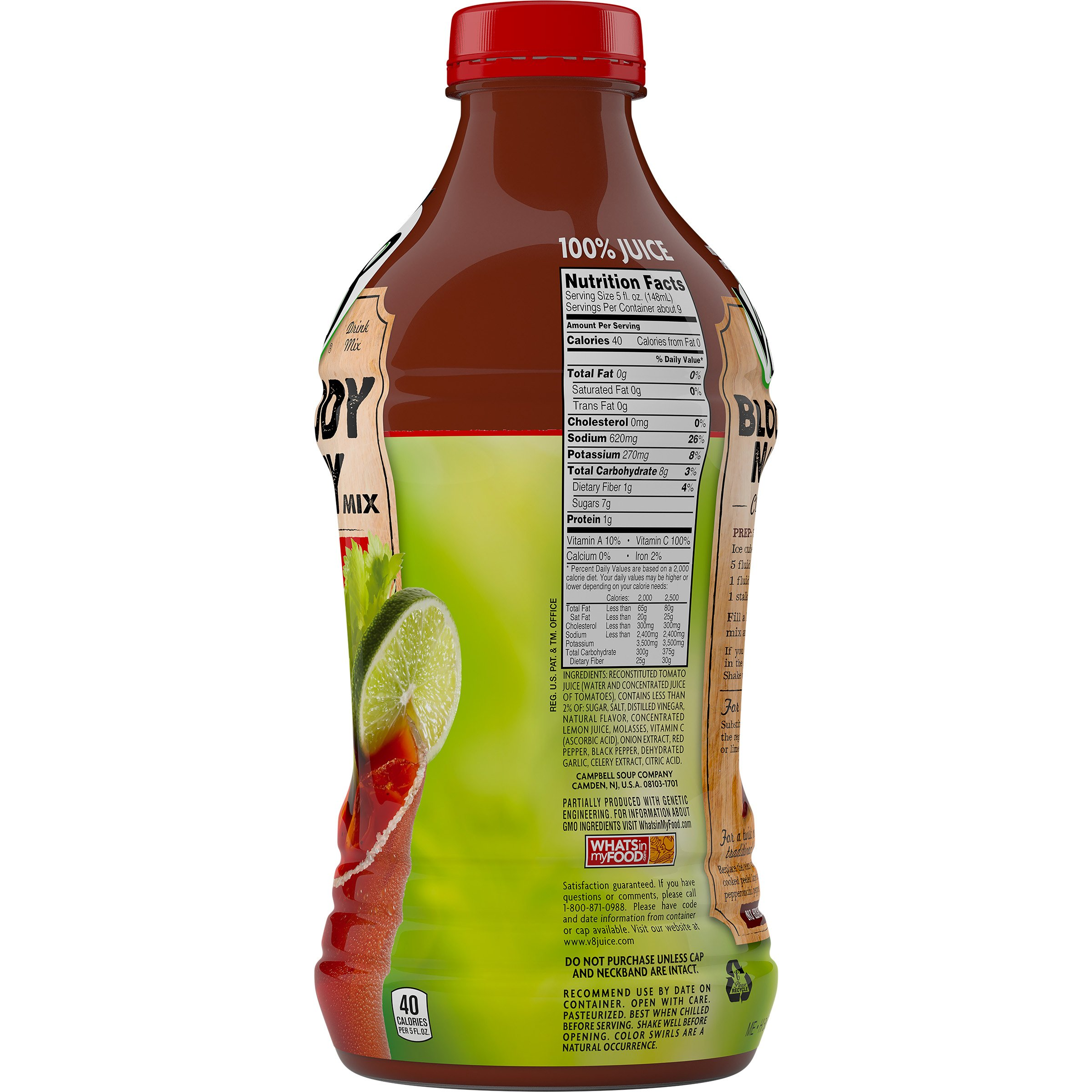 V8 Bloody Mary Mix, 46 oz. Bottle (Pack of 6) by V8 (Image #7)
