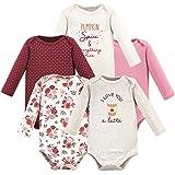 Hudson Baby Unisex Baby Cotton Bodysuits, Pumpkin