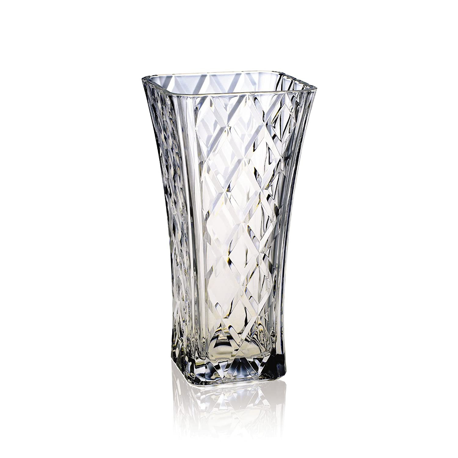 Amazon mikasa diamond sparkle glass vase 12 inch home kitchen reviewsmspy
