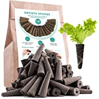 100 Pack Growth Sponges, Replacement Root Growth Sponges Seed Pods Compatible with AeroGarden, Seedling Starter Sponges…