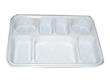 Amazon.com: Seven Compartment Disposable Plastic Plate or Thali - 50 ...