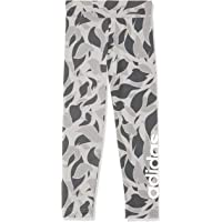 adidas Girls' Linear Printed TighTracksuit, MGH Solid Grey/Grey Five/White(Grey), 116(5-6 Years)