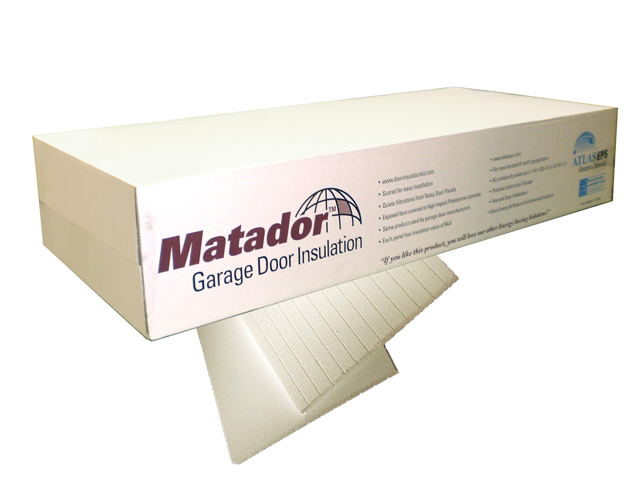 Matador Garage Door Insulation Kit, Designed for 8 Foot Tall Door up to 9 Feet Wide